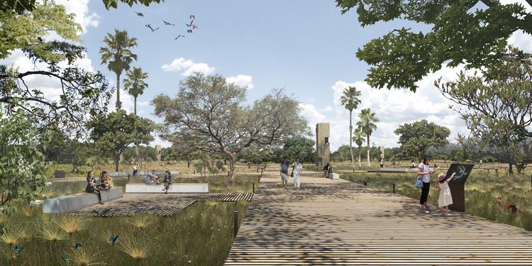 3º lugar no concurso para o Masterplan ORLA LIVRE do Lago Paranoá, Brasília, por Atelier77, Cortesia de Atelier77