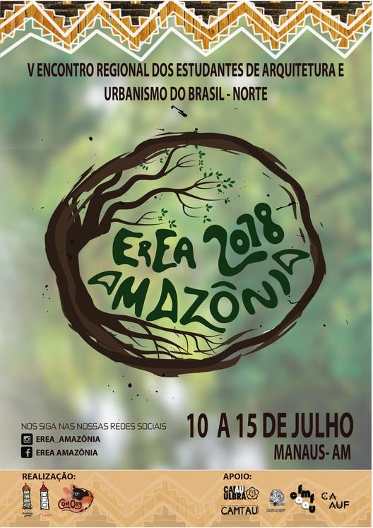 EREA Amazônia 2018, Cartaz de divulgação exposto nas FAUs do Brasil.