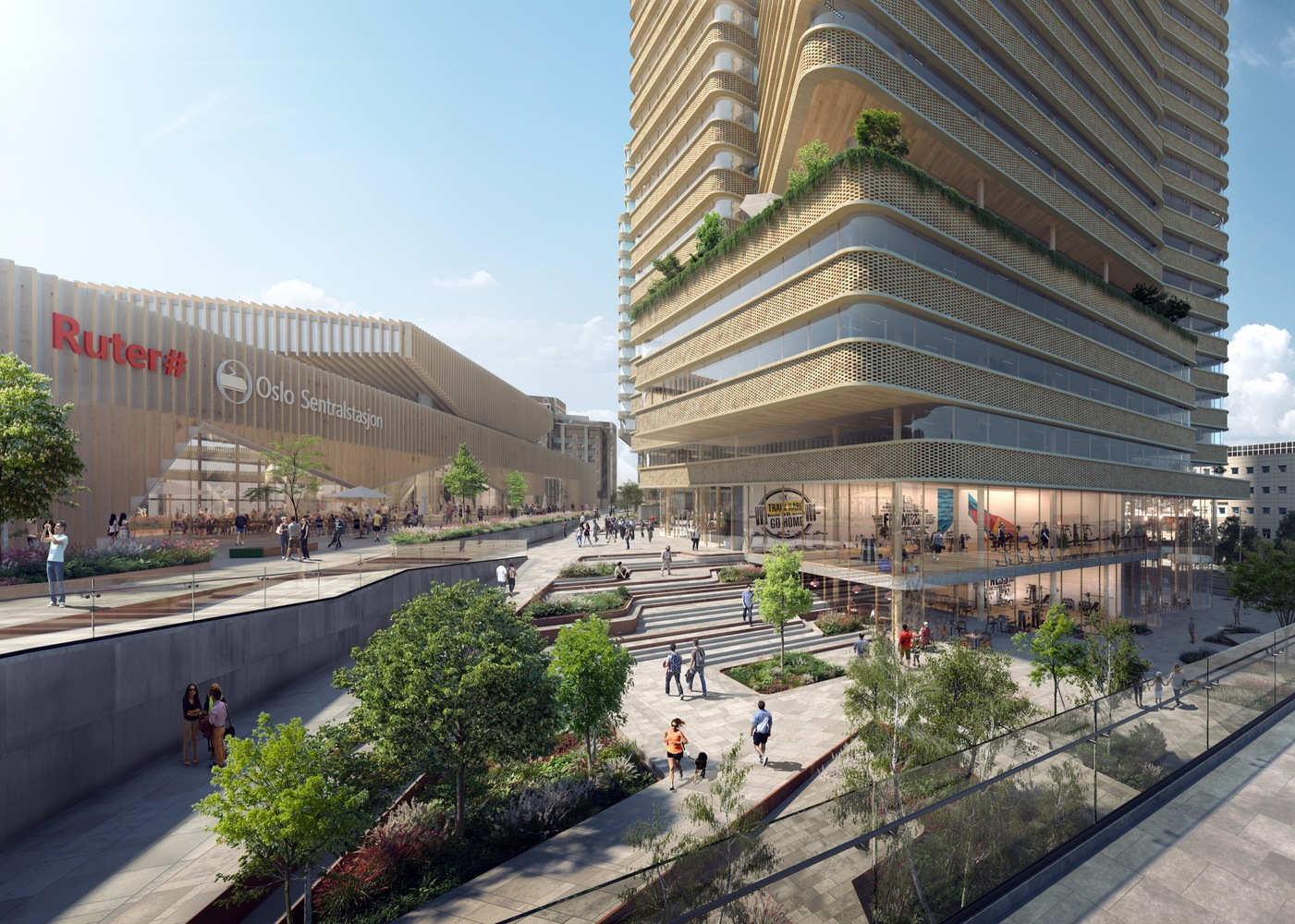 C.F. Møller Architects Release Images of Proposed Urban Realm for Oslo Central Station,Courtesy of C.F. Møller Architects