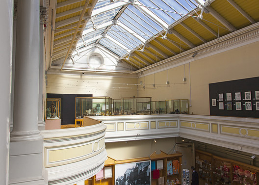 Balcony at the Paisley Museum. Image Courtesy of Paisley Museum