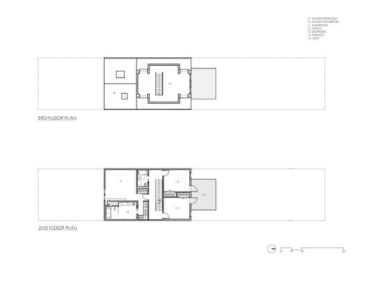 Second + Third Floor Plans