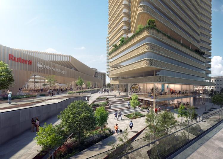 C.F. Møller Architects, Kristin Jarmund Architects e Rodeo Architects propõem novo complexo urbano no centro de Oslo, Cortesia de C.F. Møller Architects
