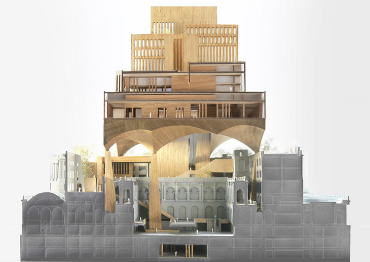 The Bank of England: a dialectical project / Leod Stolte from Delft University of Technology. Image via YTAA - Young Talent Architecture Award