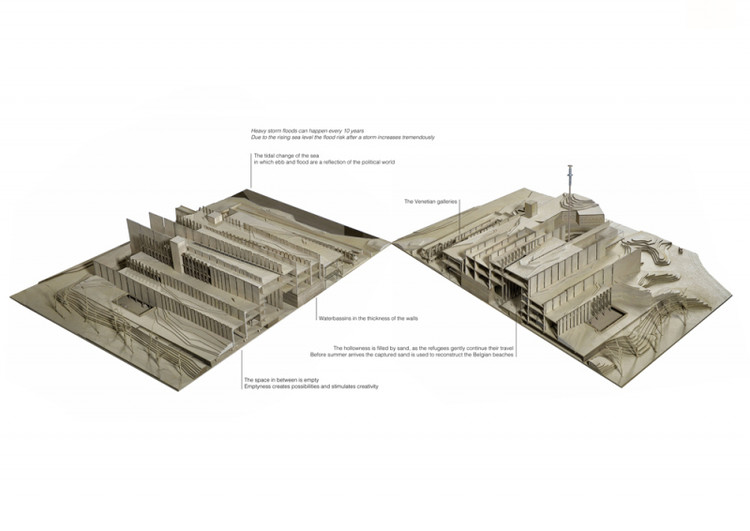 THE CITADEL OF TIDES / Marie Moors from Hasselt University. Image via YTAA - Young Talent Architecture Award