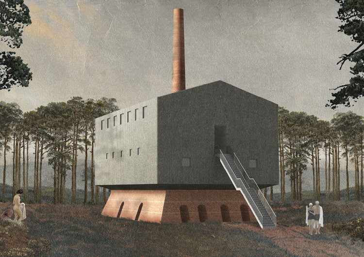 Old Brickyard – Landbad Bordenau / Nick Chadde from Bauhaus-Universitat Weimar. Image via YTAA - Young Talent Architecture Award