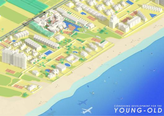 San Junipero / Ara Gonzalez Cabrera from Polytechnic University of Madrid. Image via YTAA - Young Talent Architecture Award