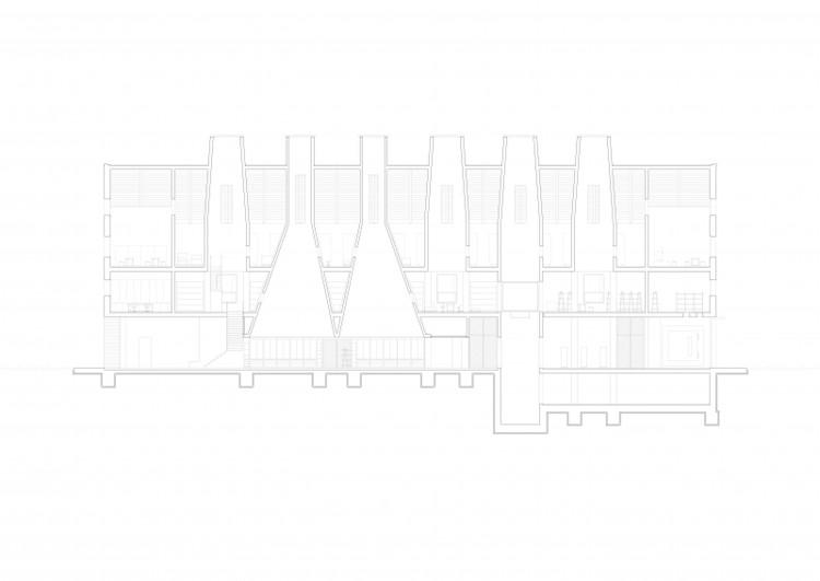 Ceramics – Design of a factory / Sina Pauline Riedlinger, Franziska Kauferle from Technical University of Berlin. Image via YTAA - Young Talent Architecture Award