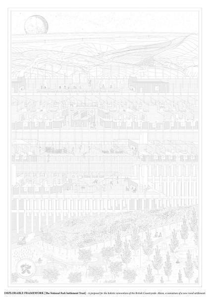 Deplorable Framework / Matthew Gregorowski from London Metropolitan University. Image via YTAA - Young Talent Architecture Award