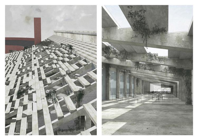 Stadium Strahov / Veronika Indrova from Czech Technical University. Image via YTAA - Young Talent Architecture Award