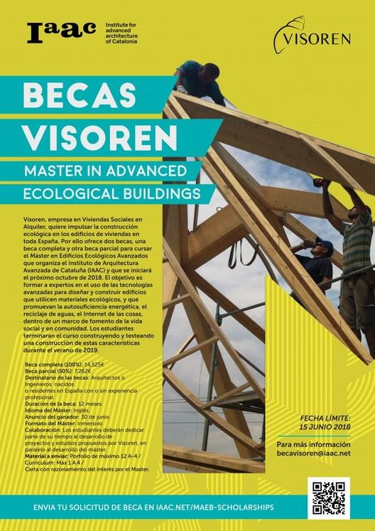 Beca Visoren para el Máster in Advanced Ecological Buildings
