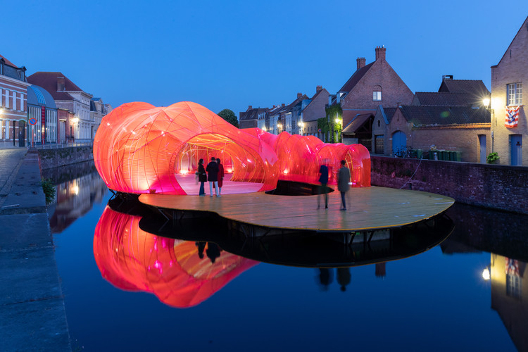 SelgasCano Adds a Splash of Color to the Bruges Triennale with New Installation, © Iwan Baan