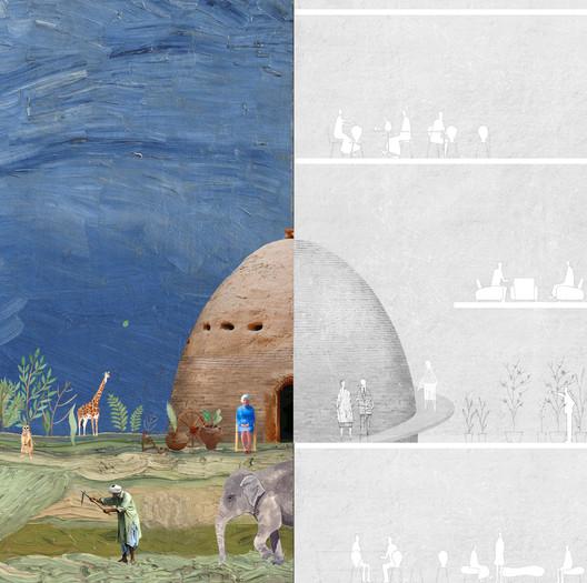 Urban Memory Parasite - Fanbo Zeng, Nan Jiang, Jianhua Lei and Xianhui Bu, China. Image via Association of Siamese Architects