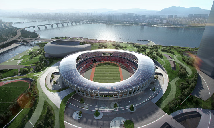 Winning Design Revealed for New Complex Around Seoul's Olympic Stadium, Courtesy of NOW Architects