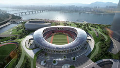 Winning Design Revealed for New Complex Around Seoul's Olympic Stadium