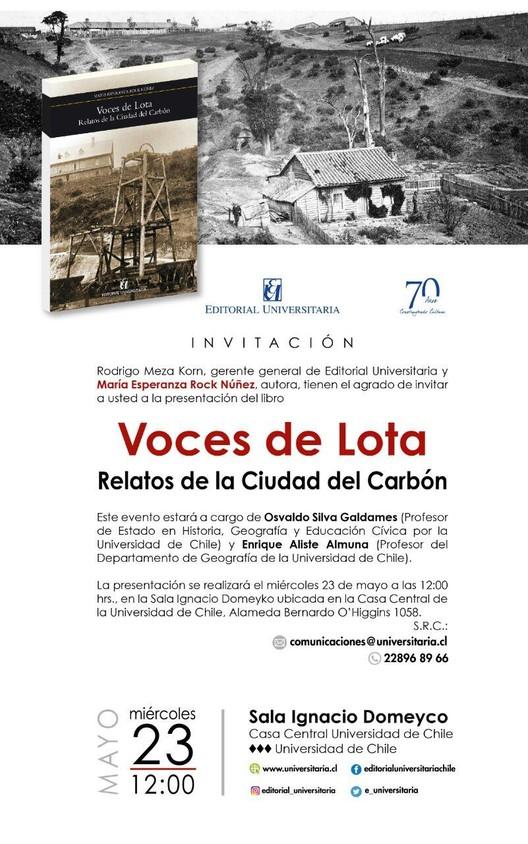 Lanzamiento del libro 'Voces de Lota: relatos de la ciudad del carbón', Urbanización de Lota Alto. Archivo ENACAR.