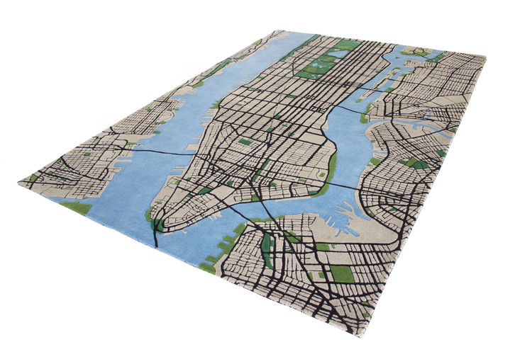 Bring the Big Apple Into Your Home with the 3-D New York City Carpet, Courtesy of Shift Perspective