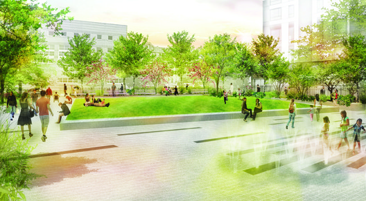 Garrison Playground / Department of Parks & Recreation In-House Design. Image via New York City Public Design Commission