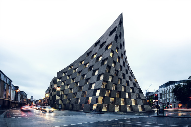 AQSO Arquitectos Design a New, Twisted Landmark For London's Creative Heart, Courtesy of AQSO Arquitectos
