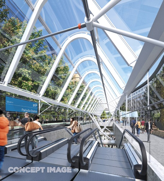 Parkville Station. Image Courtesy of Metro Tunnel, via HASSELL, RSHP, Weston Williamson