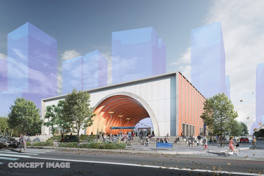 North Melbourne Station. Image Courtesy of Metro Tunnel, via HASSELL, RSHP, Weston Williamson