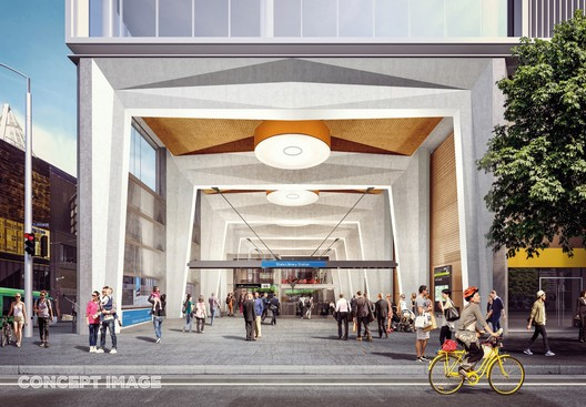 State Liberty Station. Image Courtesy of Metro Tunnel, via HASSELL, RSHP, Weston Williamson