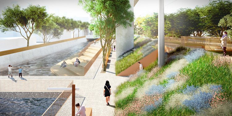 Mecanoo Designs Mile-Long Green Corridor Along Former Railway Line in Taiwan, Courtesy of Mecanoo Architecten