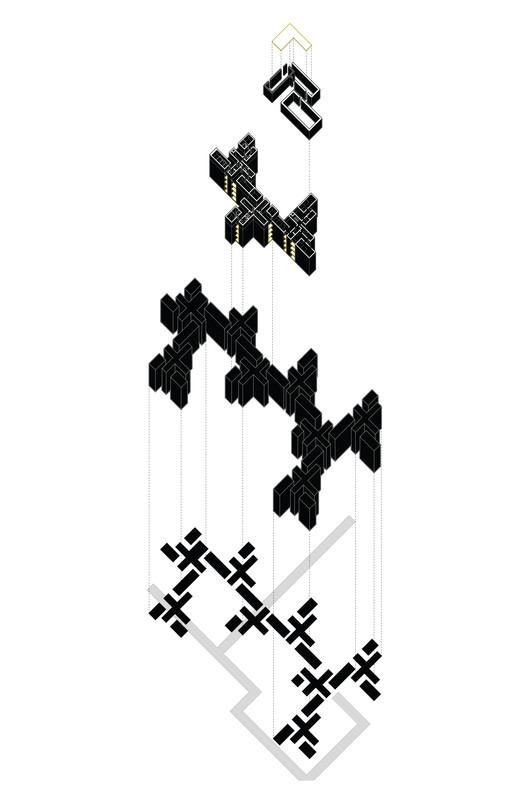 """'De la Villa a la Célula' aborda la posible reinvención de la manzana típica del pericentro de Santiago, A City Made of Rooms - OM Ungers. Image Cortesía de Workshop y simposio internacional """"De la Villa a la Célula"""""""