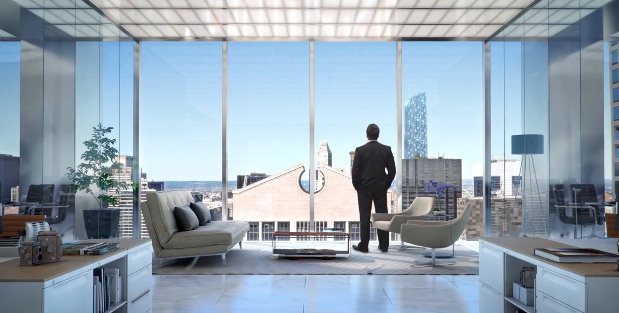 A Man, a Suit, and a Window: The Strange World of the Luxury Skyscraper Promotional Video