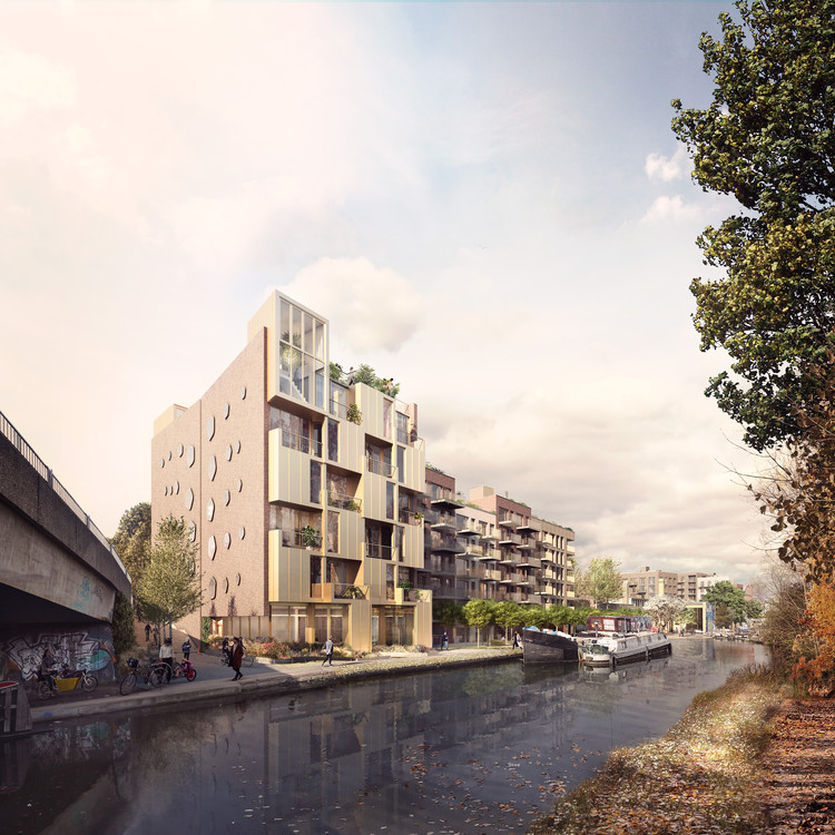 Green-Lit Mixed-Use Proposal Enhances Hackney Wick Through Regeneration and Retention, Courtesy of Forbes Massie