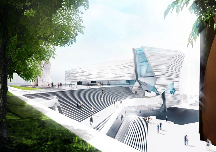 Morphosis Releases Images of Proposed Orange County Museum of Art in California, Courtesy of Morphosis