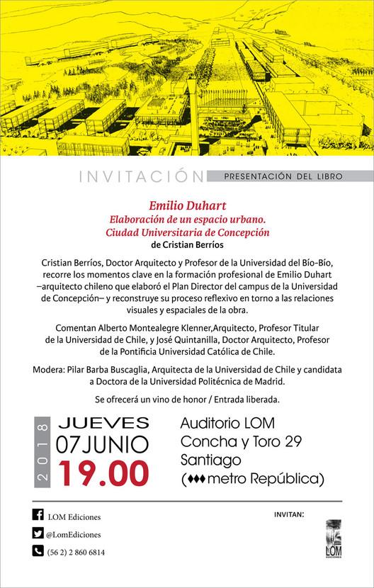 """Presentación del libro """"Emilio Duhart. Elaboración de un espacio urbano moderno: Ciudad Universitaria de Concepción"""""""