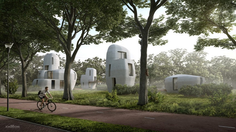 World's First 3D-Printed Concrete Housing Project to be Built in Eindhoven, Courtesy of Houben & Van Mierlo Architecten