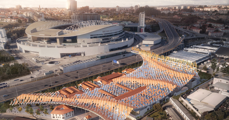 Kengo Kuma and OODA Win Competition to Redevelop Porto Slaughterhouse, © Luxigon