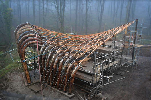 Saw-Mill Shelter, Architectural Association School of Architecture. Image Courtesy of Rolando Madrigal Torres