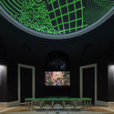Transit Screening Lounge at the 2018 U.S. Pavilion. Courtesy of the School of the Art Institute of Chicago and the University of Chicago.. Image © Tom Harris