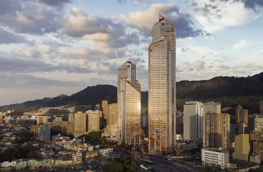 Así avanza Torres ATRIO, el proyecto de Richard Rogers + El Equipo de Mazzanti en Bogotá