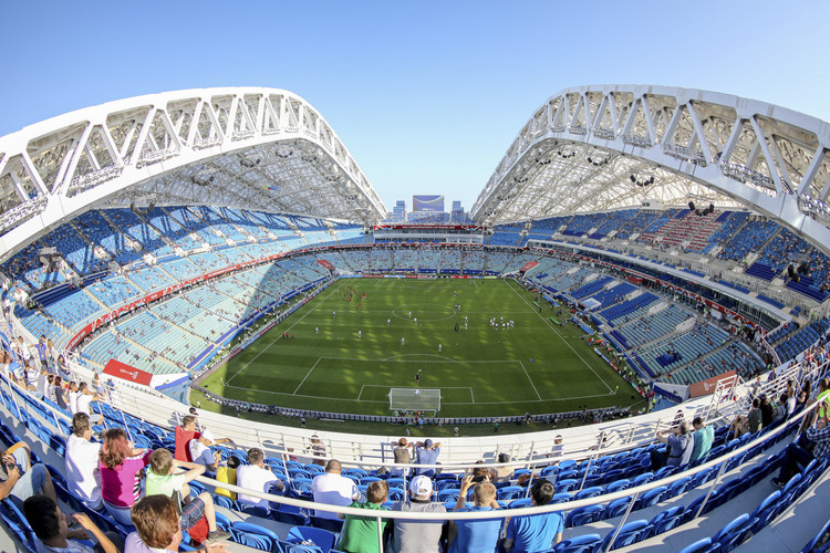 "See the Twelve Russian Stadiums That Will Host the 2018 World Cup, By <a href='https://www.soccer.ru/galery/995258/photo/652541'>Эдгар Брещанов</a> [<a href=""https://creativecommons.org/licenses/by-sa/3.0"">CC BY-SA 3.0</a>], <a href=""https://commons.wikimedia.org/wiki/File:Fisht_Olympic_Stadium_2017.jpg"">via Wikimedia Commons</a>"