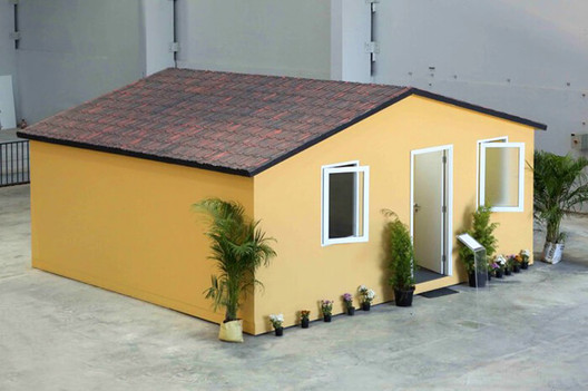 KEF Infra's prefabricated affordable homes can be assembled in less than three hours. Image Courtesy of KEF Infra