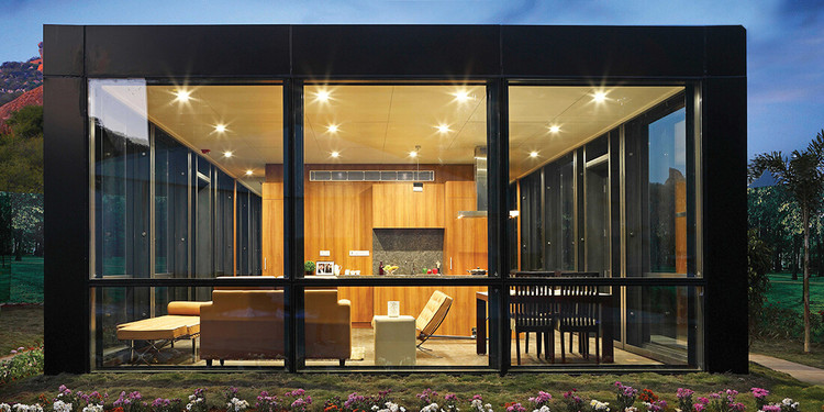 This Company Is Using Prefabrication to Rapidly Deliver Huge Numbers of Buildings in India, KEF Infra's Philip Johnson House, built in 20 days, showcases its prefabrication methods. Image Courtesy of KEF Infra