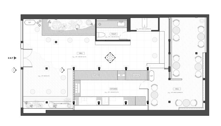 Coffee Floor Plan: Seoul Coffee / LABOTORY