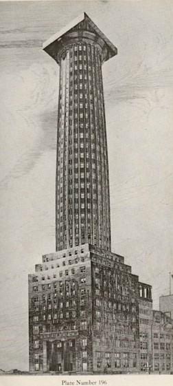 Adolf Loos para el concurso del Chicago Tribune. Image Cortesía de Chicago Architecture Biennal Blog (Consortia)