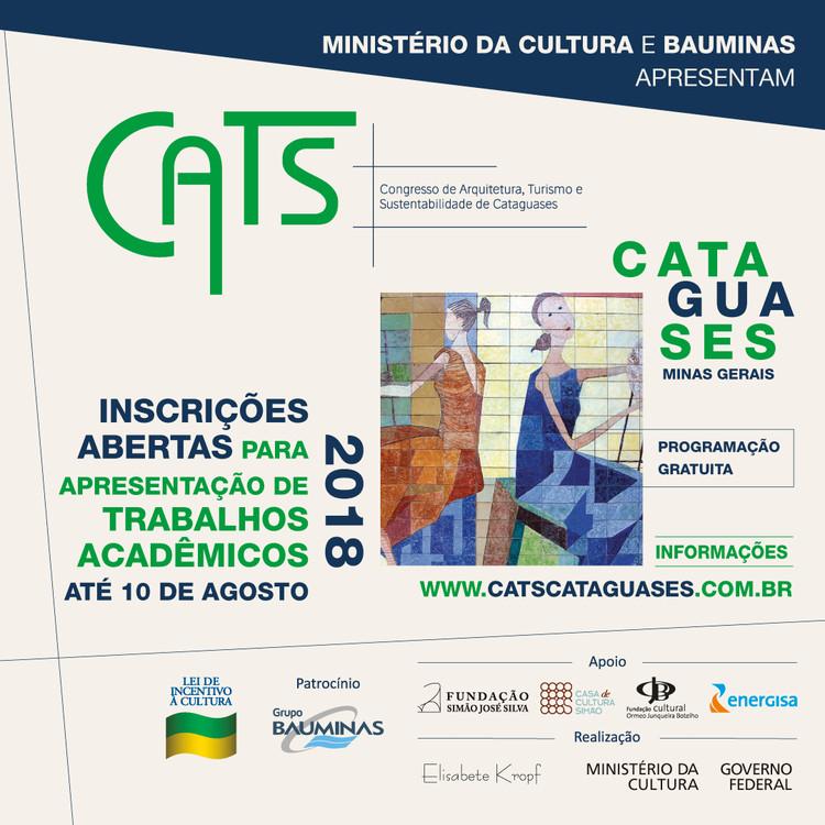 Congresso de Arquitetura, Turismo e Sustentabilidade, Cartaz para a chamada das sessoes de comunicacao do CATS - Bruna Nogueira