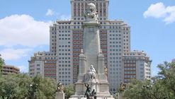 Transformación de la Plaza España en Madrid deberá respetar la posición del monumento a Cervantes