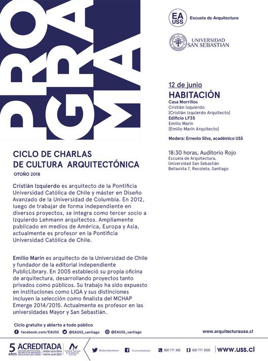PROGRAMA: Cristian Izquierdo y Emilio Marín | CCCA USS | Otoño 2018, Escuela de Arquitectura, Universidad San Sebastián [EA USS]