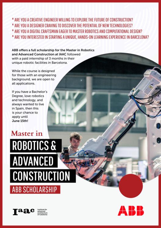 IAAC Becas - Prácticas profesionales    Master in robotics & advanced construction (MRAC), Institute for Advanced Architecture of Catalonia (IAAC)