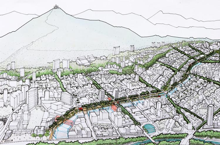 Colectivo 720 + De Arquitectura y Paisaje, segundo lugar en concurso de espacio público en la avenida Sexta de Cali, Colombia, Cortesía de Equipo Segundo Lugar