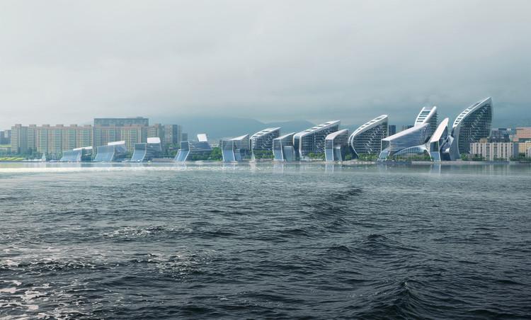 Zaha Hadid Architects ganha concurso para desenho urbano de cidade russa no Mar Negro, Cortesia de VA