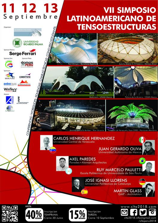 VII Simposio Latinoamericano de Tensoestructuras 2018 , AFICHE OFICIAL VII SLTE 2018