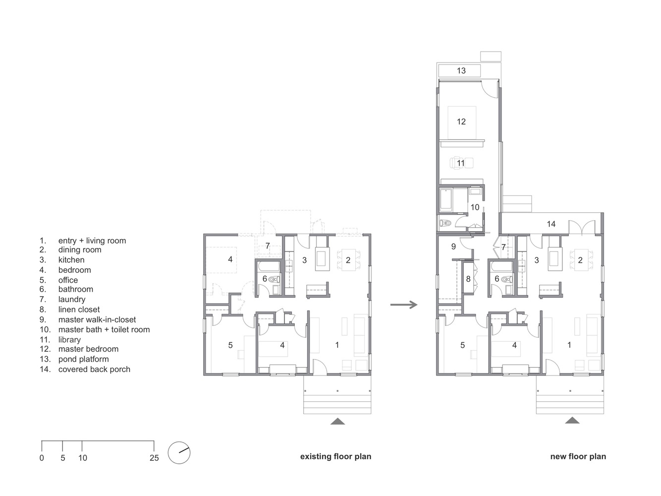 Gallery of Rear Window House / Edward Ogosta Architecture - 19 on house plans bunkhouse, house plans in 3d view, house extension plans, house plans with front porches, house floor plans, house plans center kitchen, house plans with a view, house plans with large kitchens, house plans fireplace, house plans with back view, house plans with porte cochere, house plans vaulted ceilings, house plans chairs,