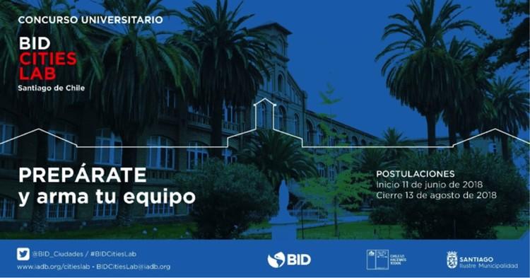 4° Edición del Concurso Internacional Universitario BID CitiesLab - Santiago de Chile, © División de Vivienda y Desarrollo Urbano del BID